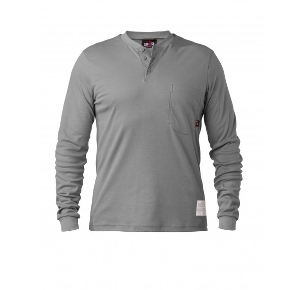 6 oz UltraSoft Button Front Henley