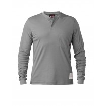 6 Oz FR Cotton Button Front Henley