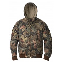 7 oz Full Camo UltraSoft Insulated Work Jacket w/Attached Hood
